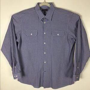 Ben Sherman blue and red plaid button up. L